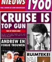 Verjaardag kaart met nieuws uit 1986 trend