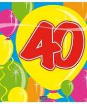 Verjaardag servetten 40 jaar trend