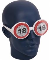 Verjaardagbril met 18 verkeersbord trend