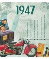 Verjaardagskaart 70 jaar met muziek uit 1947 trend