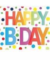 Verjaardagskaart happy birthday met gekleurde stippen trend