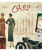 Verjaardagskaart met muziekhits uit 1932 trend