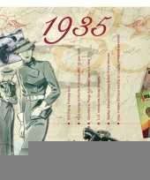 Verjaardagskaart met muziekhits uit 1935 trend