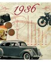Verjaardagskaart met muziekhits uit 1936 trend