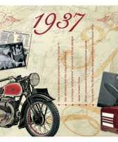 Verjaardagskaart met muziekhits uit 1937 trend