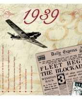 Verjaardagskaart met muziekhits uit 1939 trend