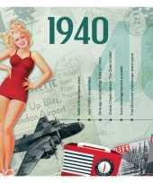 Verjaardagskaart met muziekhits uit 1940 trend