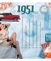 Verjaardagskaart met muziekhits uit 1951 trend
