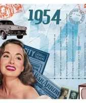 Verjaardagskaart met muziekhits uit 1954 trend