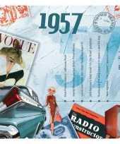 Verjaardagskaart met muziekhits uit 1957 trend