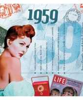 Verjaardagskaart met muziekhits uit 1959 trend