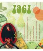 Verjaardagskaart met muziekhits uit 1961 trend