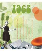 Verjaardagskaart met muziekhits uit 1962 trend