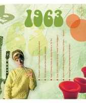Verjaardagskaart met muziekhits uit 1963 trend