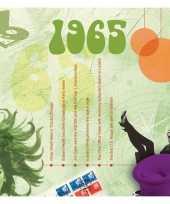 Verjaardagskaart met muziekhits uit 1965 trend