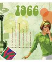 Verjaardagskaart met muziekhits uit 1966 trend