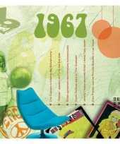 Verjaardagskaart met muziekhits uit 1967 trend