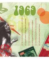 Verjaardagskaart met muziekhits uit 1969 trend