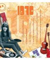 Verjaardagskaart met muziekhits uit 1970 trend