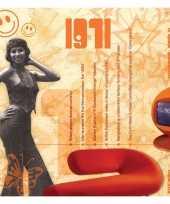Verjaardagskaart met muziekhits uit 1971 trend