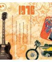 Verjaardagskaart met muziekhits uit 1976 trend