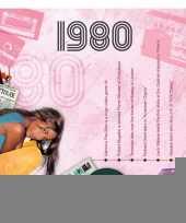 Verjaardagskaart met muziekhits uit 1980 trend