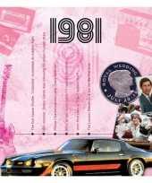 Verjaardagskaart met muziekhits uit 1981 trend