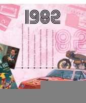 Verjaardagskaart met muziekhits uit 1982 trend