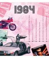 Verjaardagskaart met muziekhits uit 1984 trend