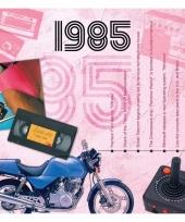 Verjaardagskaart met muziekhits uit 1985 trend