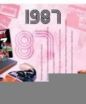 Verjaardagskaart met muziekhits uit 1987 trend