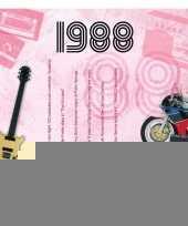Verjaardagskaart met muziekhits uit 1988 trend