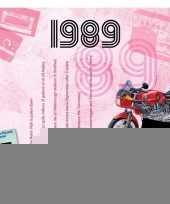 Verjaardagskaart met muziekhits uit 1989 trend