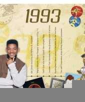 Verjaardagskaart met muziekhits uit 1993 trend
