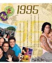 Verjaardagskaart met muziekhits uit 1995 trend