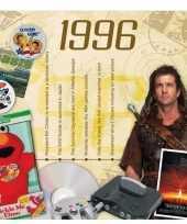 Verjaardagskaart met muziekhits uit 1996 trend