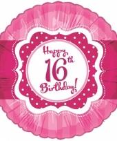Verjaardagskado 16 jaar ballon trend