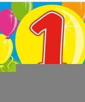 Verjaardagsversiering 1 jaar servetjes trend