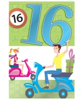 Verjaarkaart 16 jaar trend