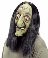 Verkleed heks masker voor volwassenen trend