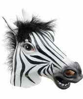 Verkleed masker zebra trend