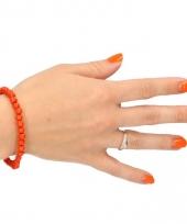 Verkleedaccessoire kralen armband oranje trend