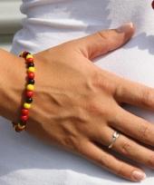 Verkleedaccessoire kralen armband zwart rood geel trend