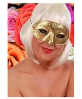 Verkleedaccessoire oogmasker goud trend