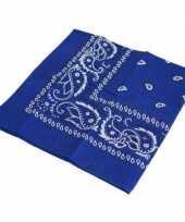 Verkleedaccessoires blauwe bandana trend