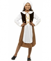 Verkleedkleding middeleeuws werkster jurkje trend