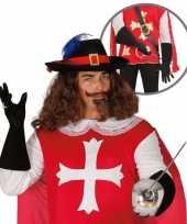 Verkleedkleding musketier accessoire volwassenen trend 10064667