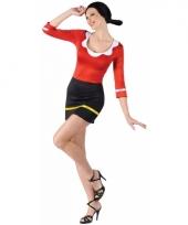 Verkleedkleding olijfje jurk trend