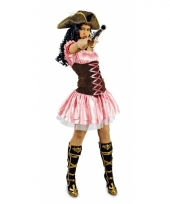 Verkleedkleding roze piratenjurkje trend