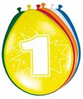 Versiering 1 jaar ballonnen 30 cm trend